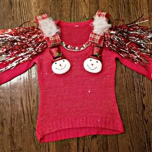 Sweaters - Snow Girls Ugly/Tacky Christmas Sweater, size M/L